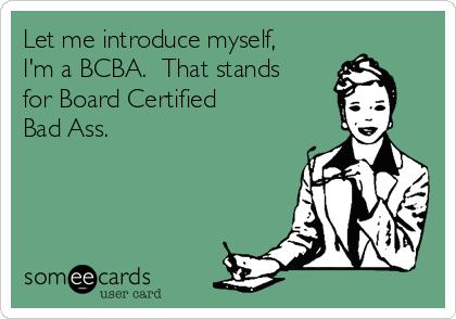 Congratulations, new BCBAs!